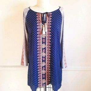 NEW THML|Tunic Dress + Embroidery S